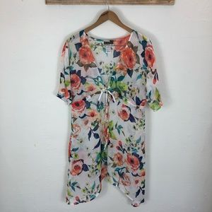 NWOT Tommy Bahama sheer floral beach cover up